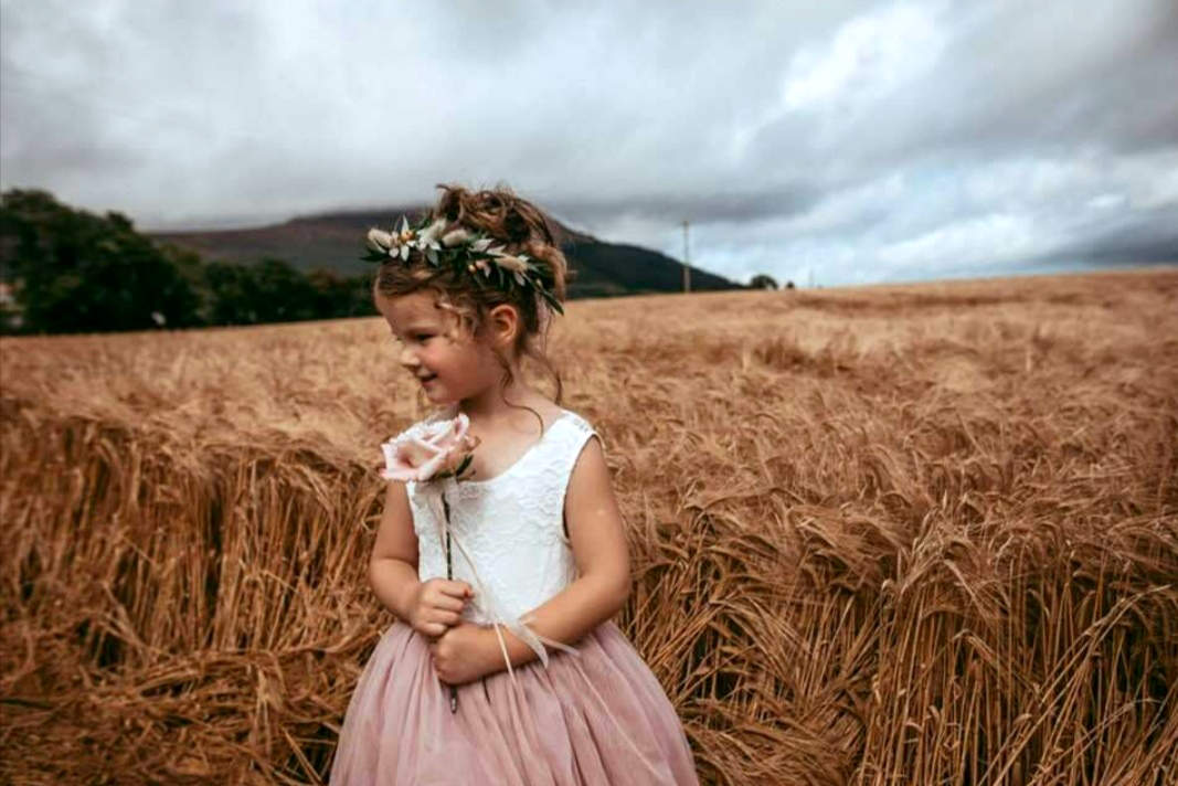 Flowergirl with Floral Headpiece