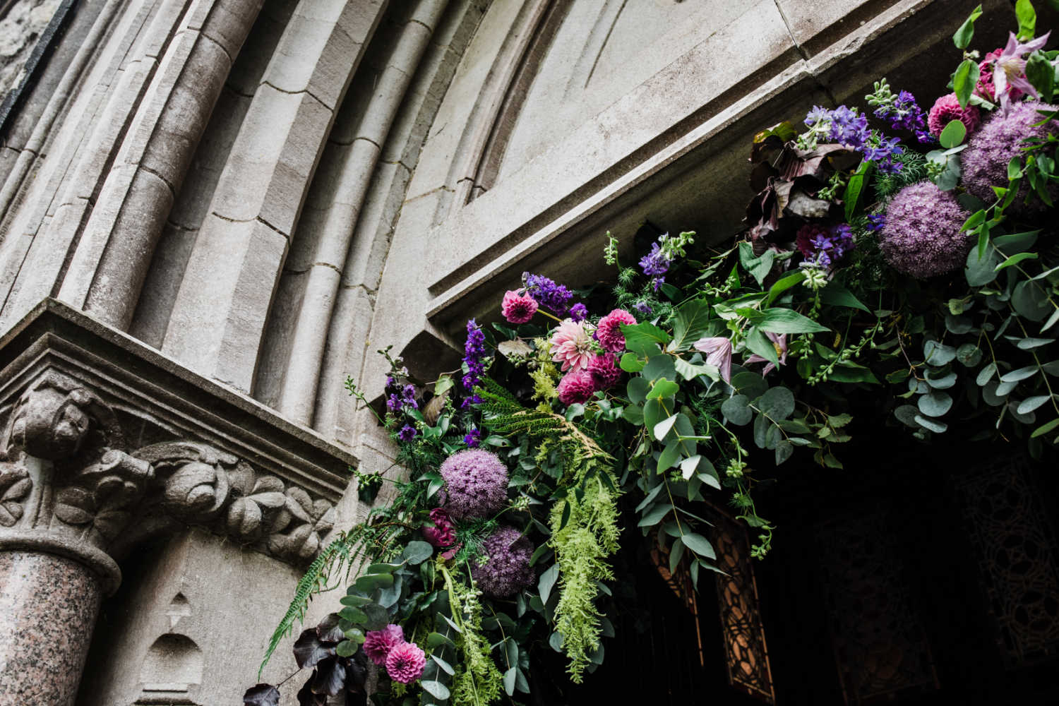 Pink and Purple Floral Archway