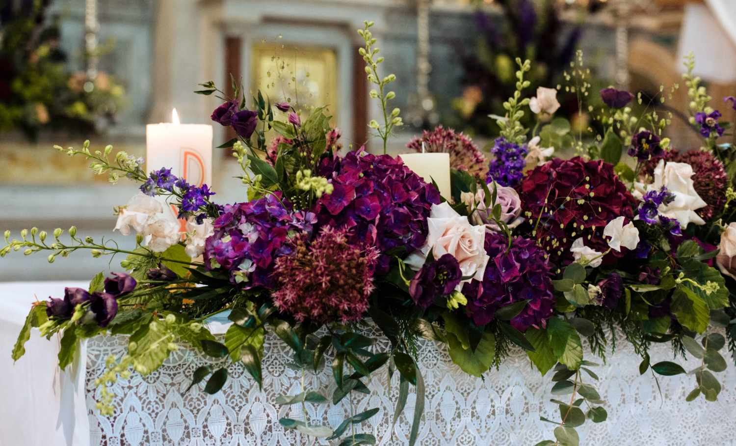 Purple Altar Flowers