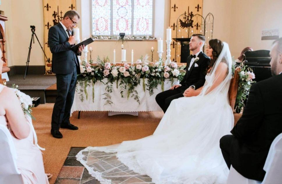 Wedding Altar Flower Display