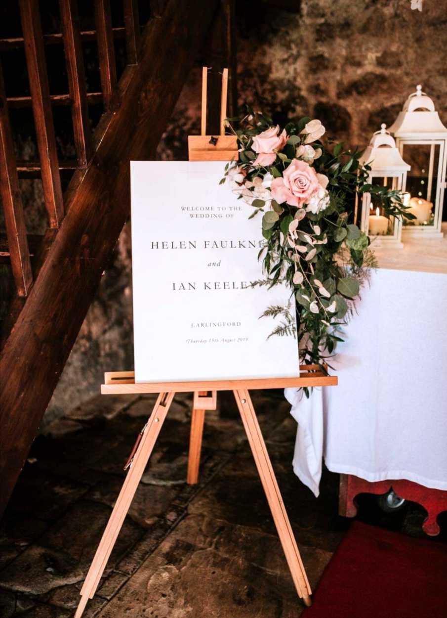 Wedding Reception Floral Decoration
