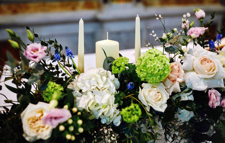 Floral Display on Wedding Altar